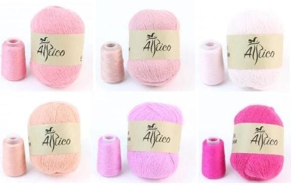 Модная пряжа для вязания пух норки (3)