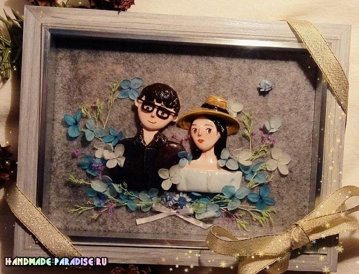 Лепка кукол для создания картины (1)