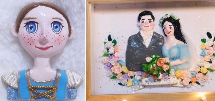 Лепка кукол для создания картины (2)
