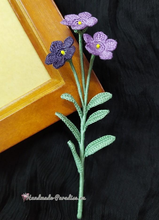 Цветы крючком - платикодон (1)