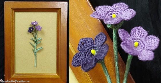 Цветы крючком - платикодон (3)