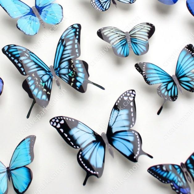 Бабочки 3D - настенные наклейки. Шаблоны (1)