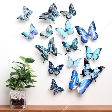 Бабочки 3D - настенные наклейки. Шаблоны (2)