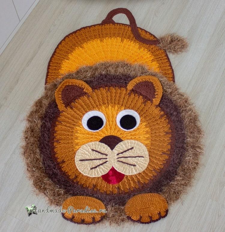 Детский коврик «Львенок» крючком (1)