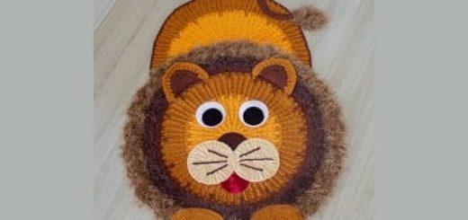 Детский коврик «Львенок» крючком (2)