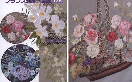 Художественная вышивка гладью. Цветочные композиции (2)