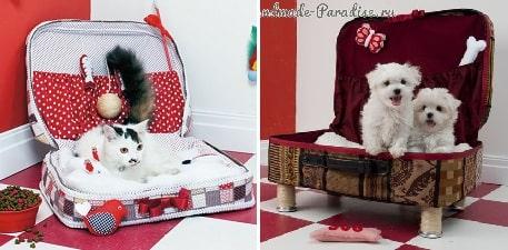 Кроватка для кошки из старого чемодана (2)