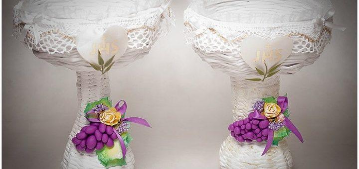 Плетение вазочки из газетных трубочек
