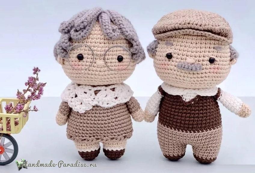 Пожилая пара - куколки крючком (1)