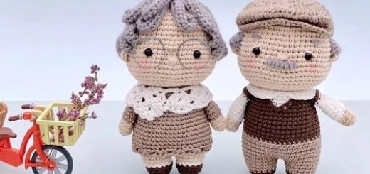Пожилая пара - куколки крючком (2)