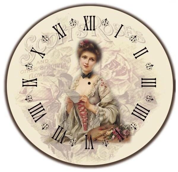 Картинки для декупажа. Циферблаты часов (2)
