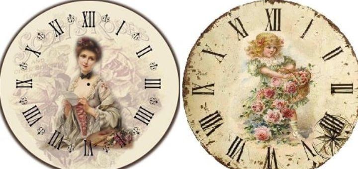 Картинки для декупажа. Циферблаты часов (3)