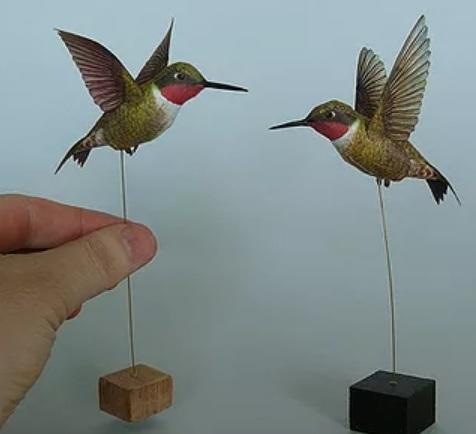 Колибри из бумаги. Цветные шаблоны (1)