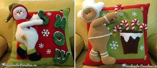Новогодние интерьерные подушки для малышей (1)