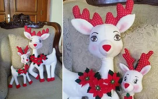 Рождественский олень. Выкройка игрушки (1)