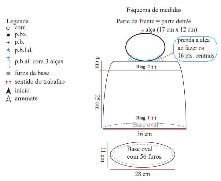 Сумка крючком из полиэфирного шнура (7)